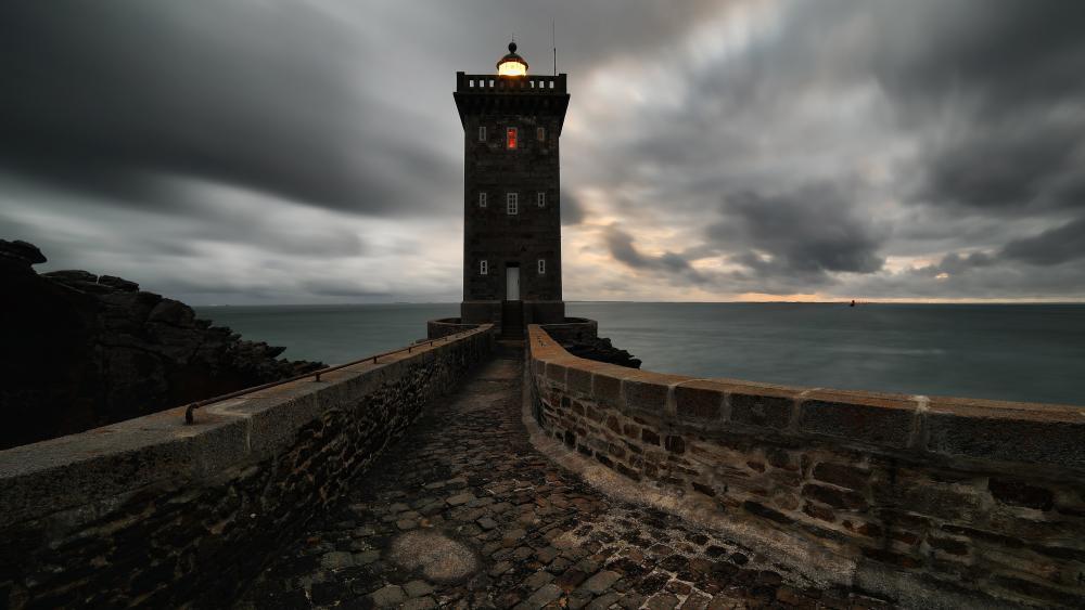 Lighthouse of Kermorvan wallpaper