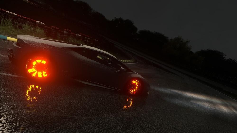 Glowing wheels wallpaper