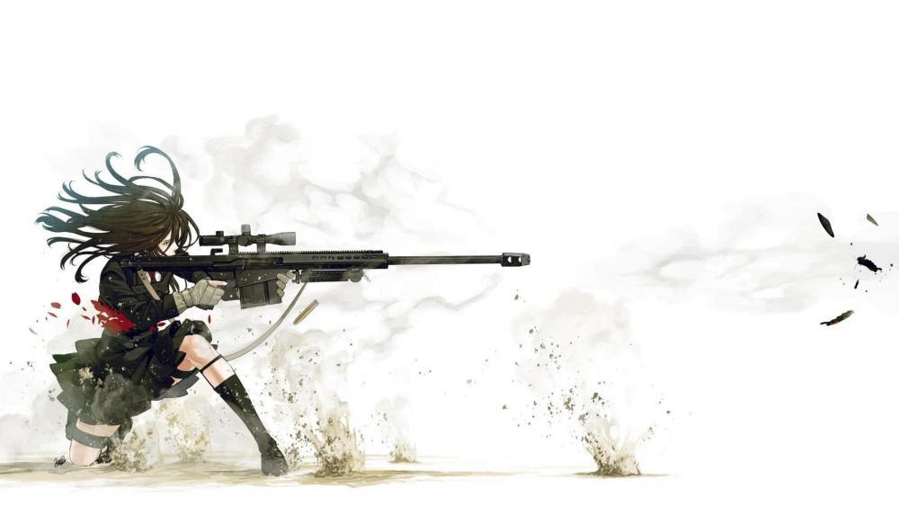 Chica Militar wallpaper