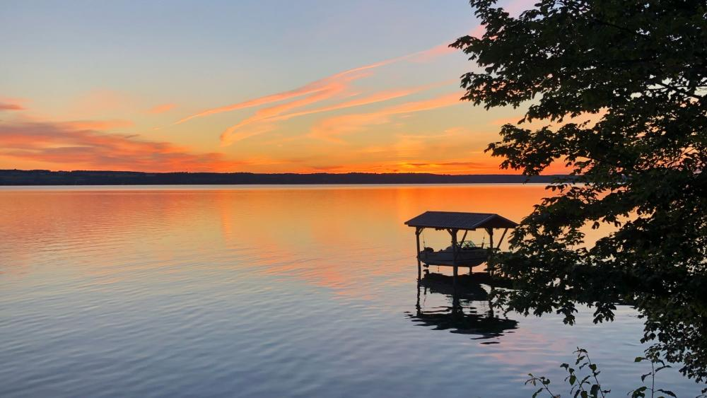 Sunset Over The Lake wallpaper