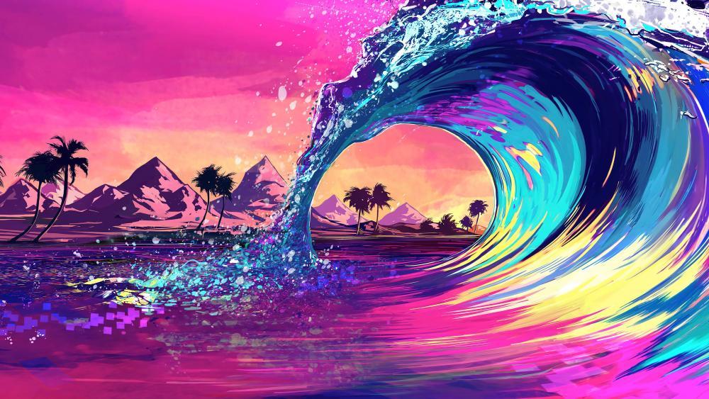 Wave of colors wallpaper