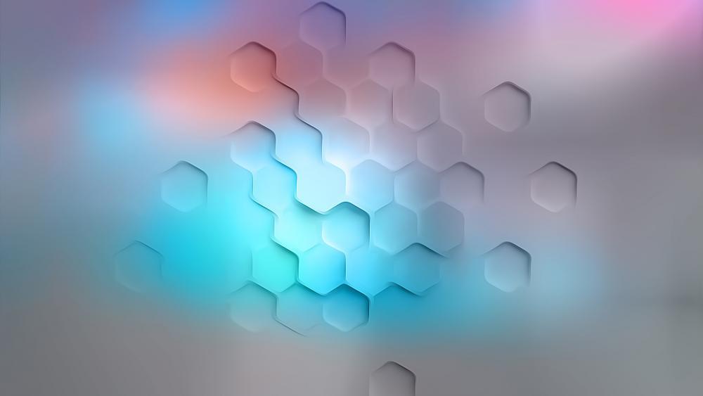White hexagonal wallpaper