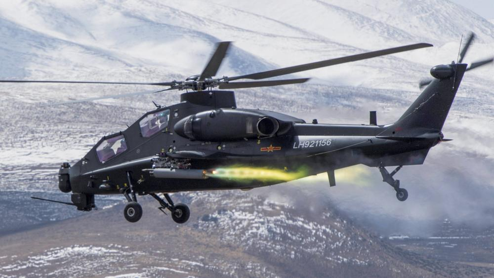 PLA WZ-10 attack helicopter wallpaper