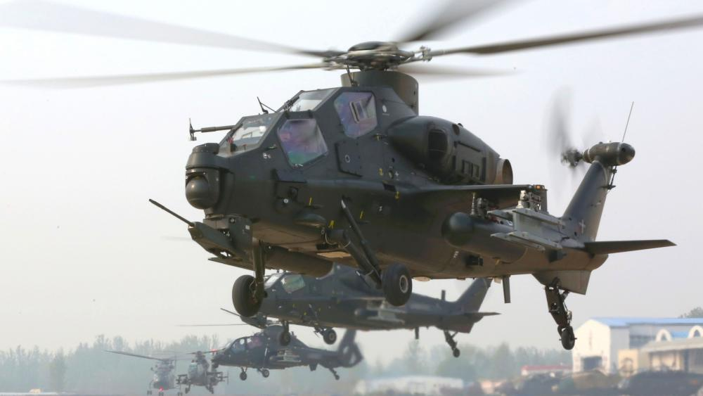 PLA WZ-10 attack helicopters wallpaper
