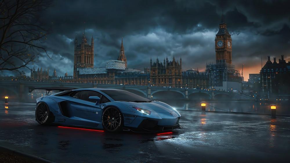 Lamborghini in London wallpaper