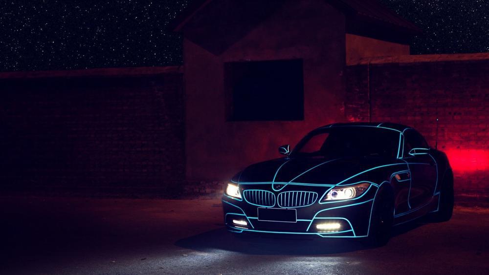 Neon BMW Z4 wallpaper