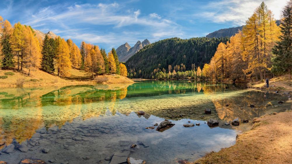 Lake Lai da Palpuogna, Switzerland wallpaper