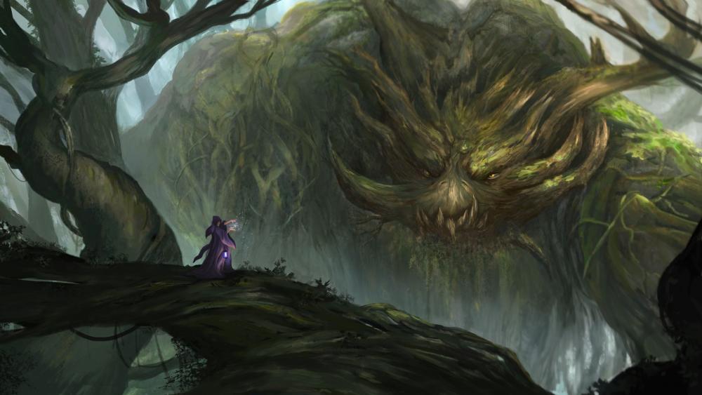 Tree monster wallpaper