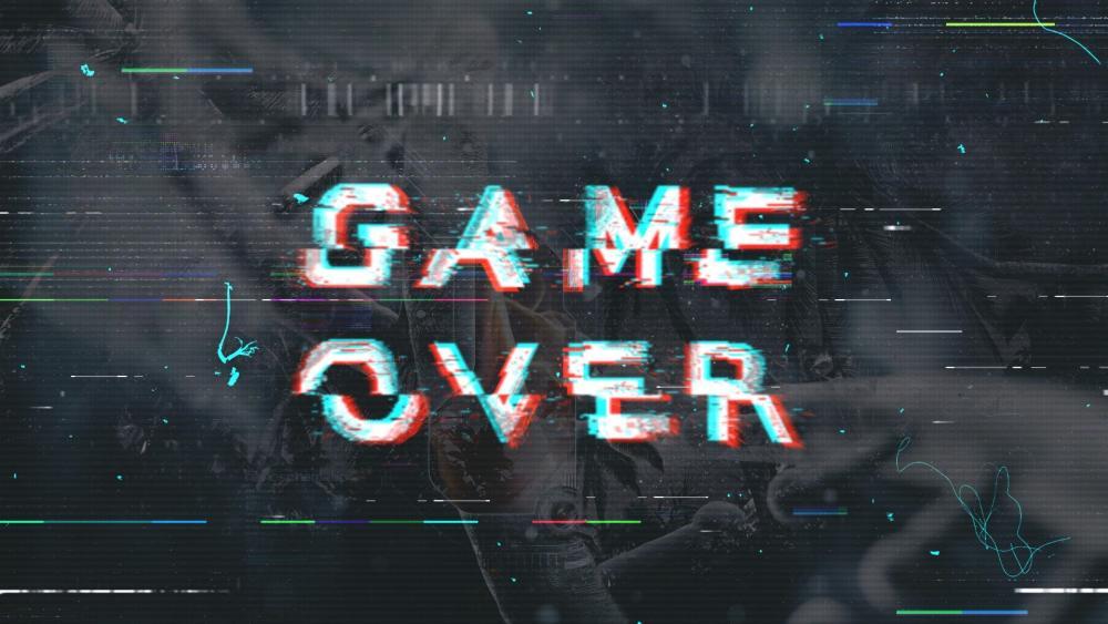 Game over glich wallpaper