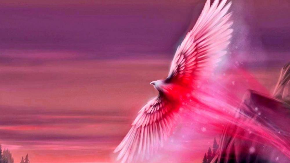 Pink Phoenix wallpaper