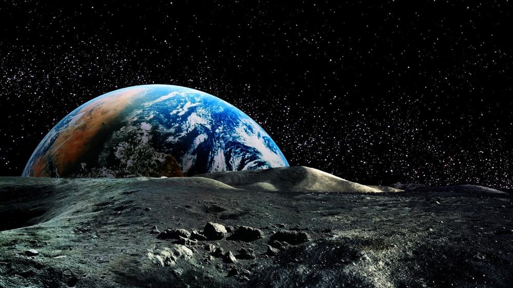 Earth from moon wallpaper