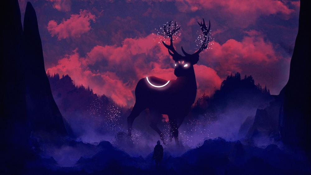 Magic deer wallpaper