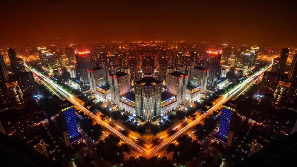 Beijing by night wallpaper