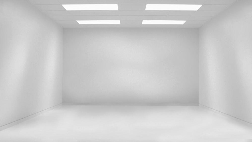 Empty white room wallpaper