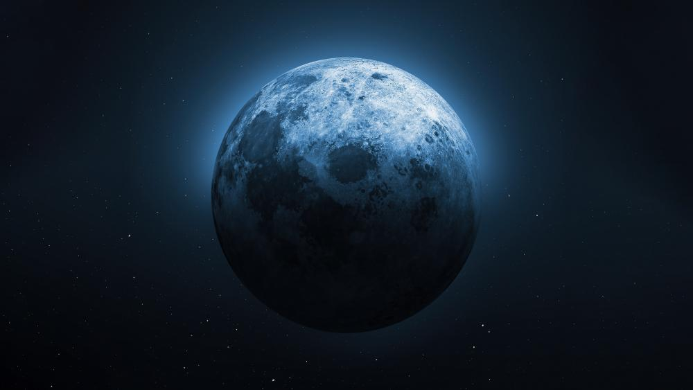 Moon half lit wallpaper
