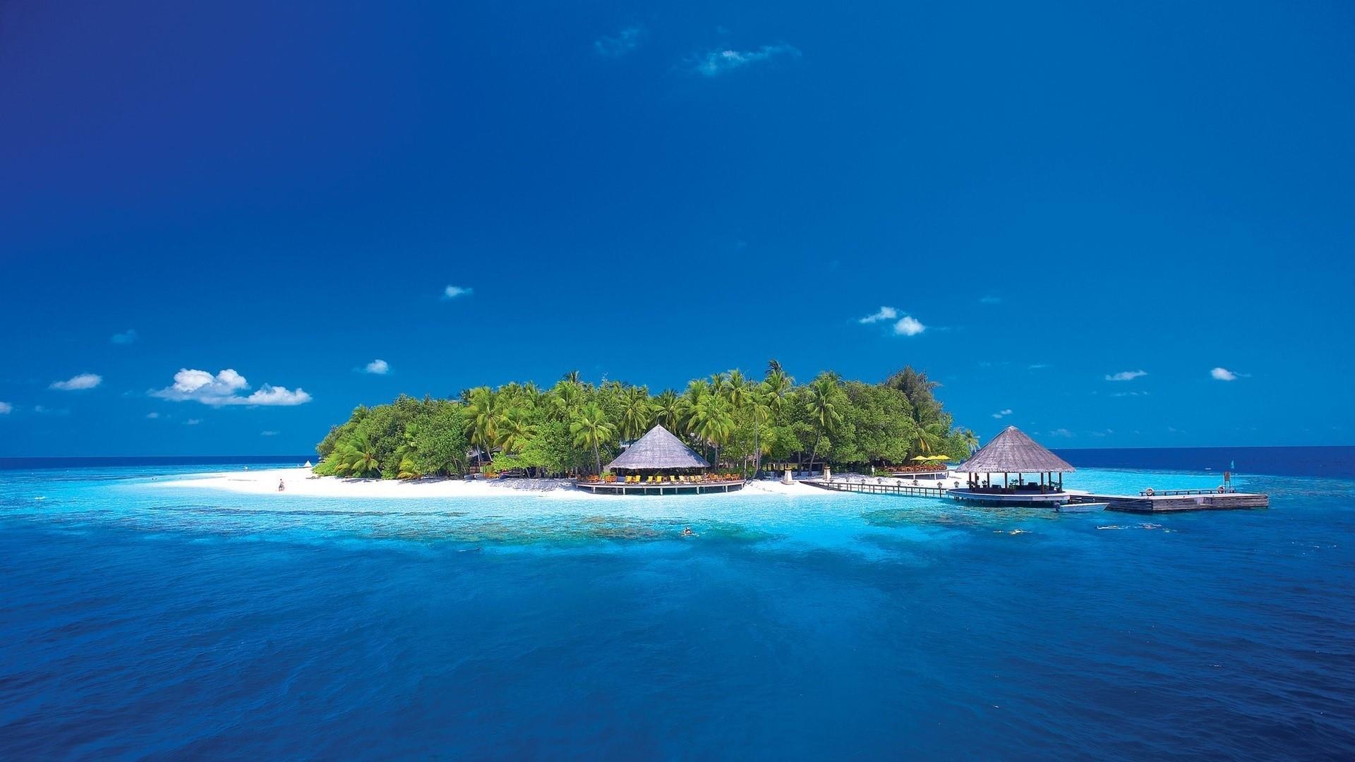 Exotic island wallpaper