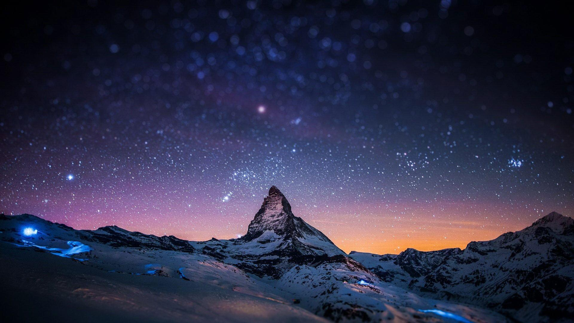Matterhorn at ngith wallpaper