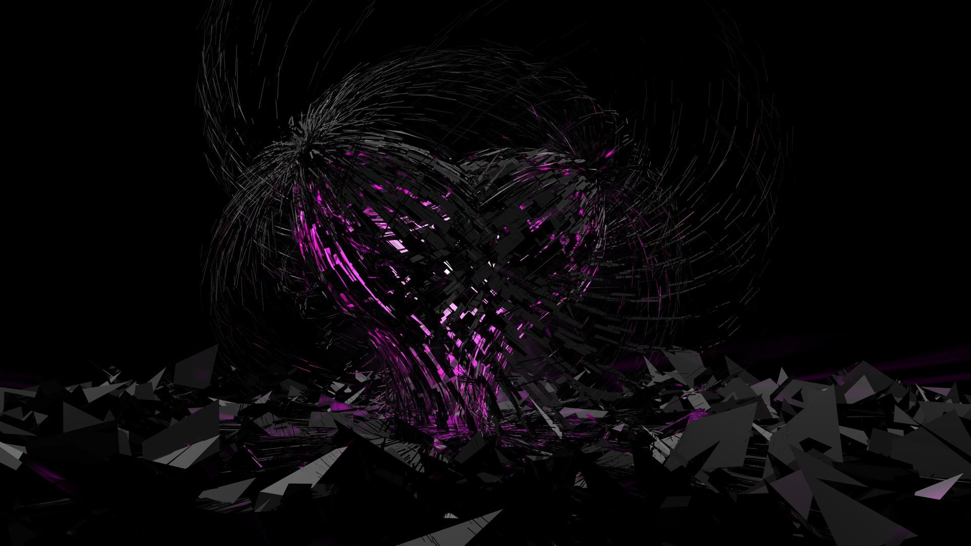Black heart wallpaper