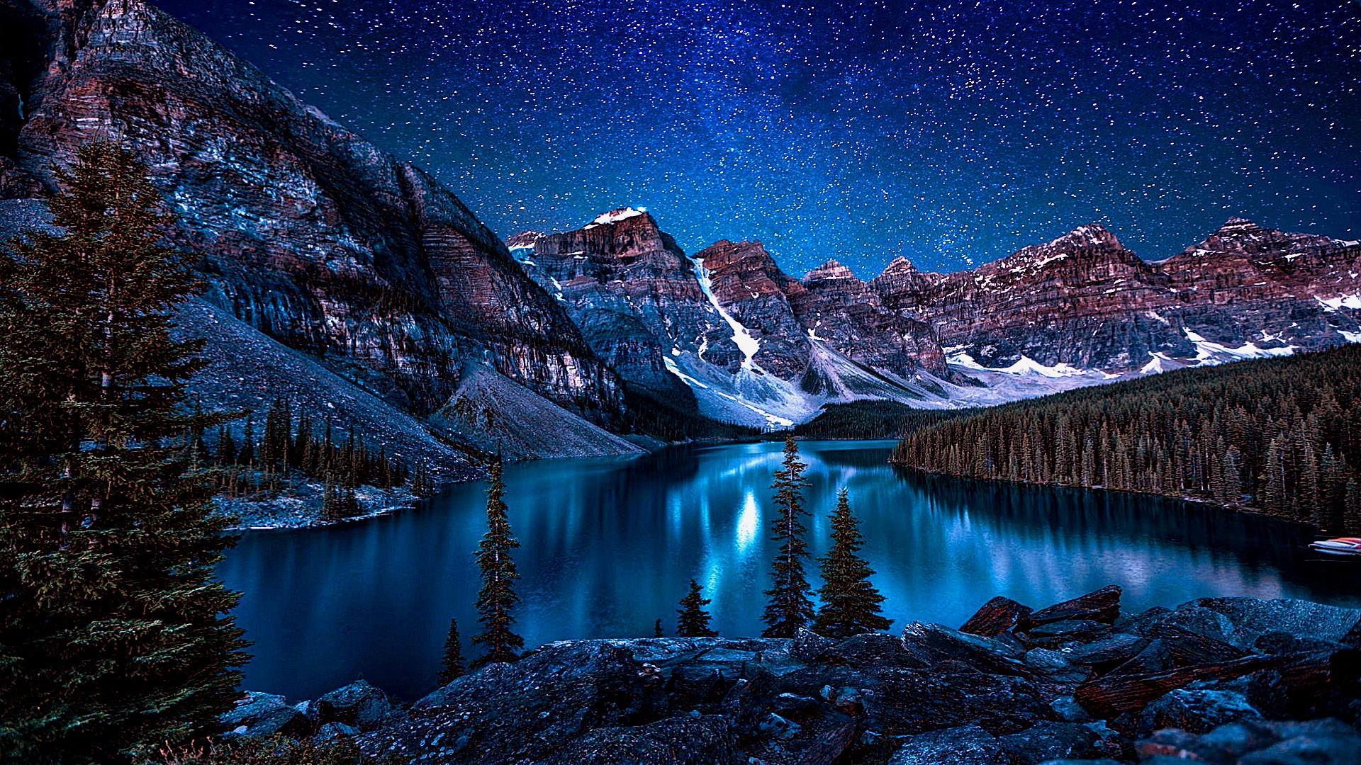 Valley Of The Ten Peaks ⛰️ HD Wallpaper
