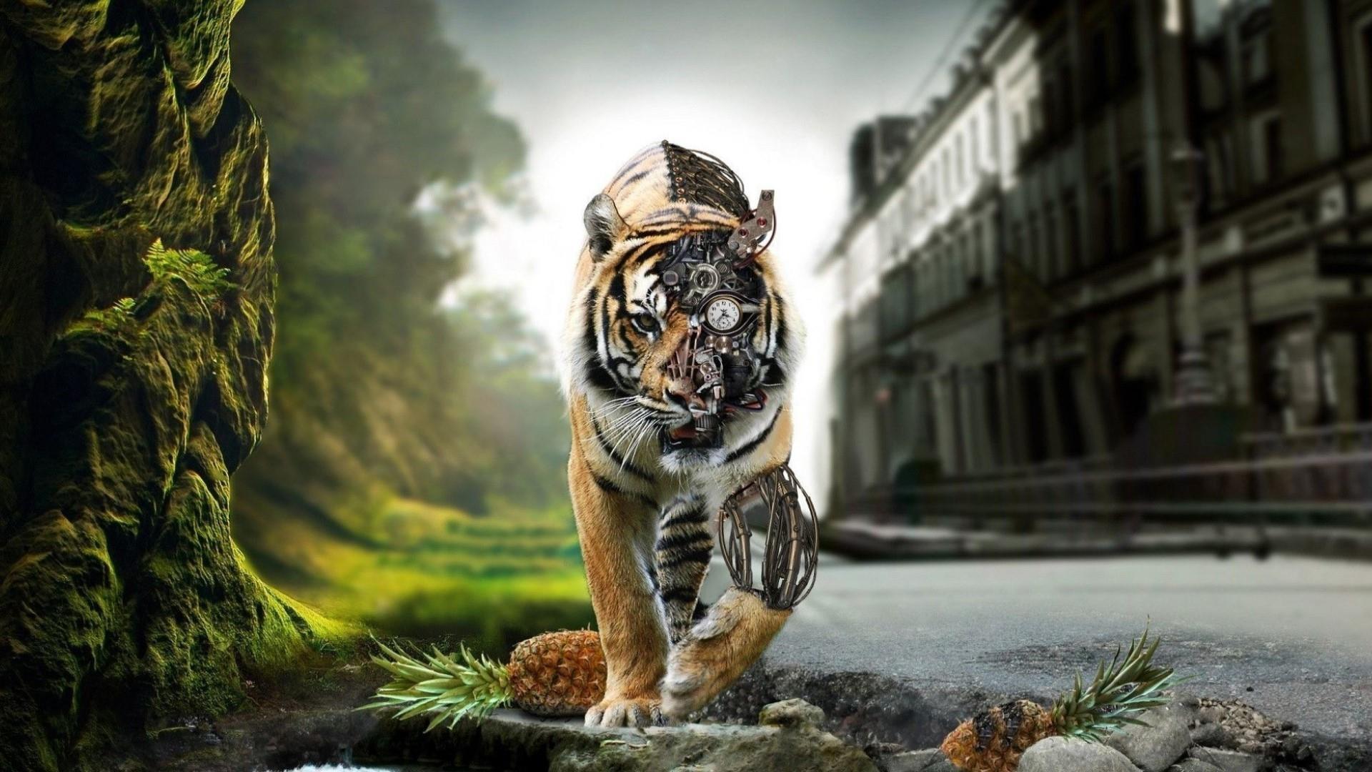 Cyborg Tiger - Concept Art wallpaper