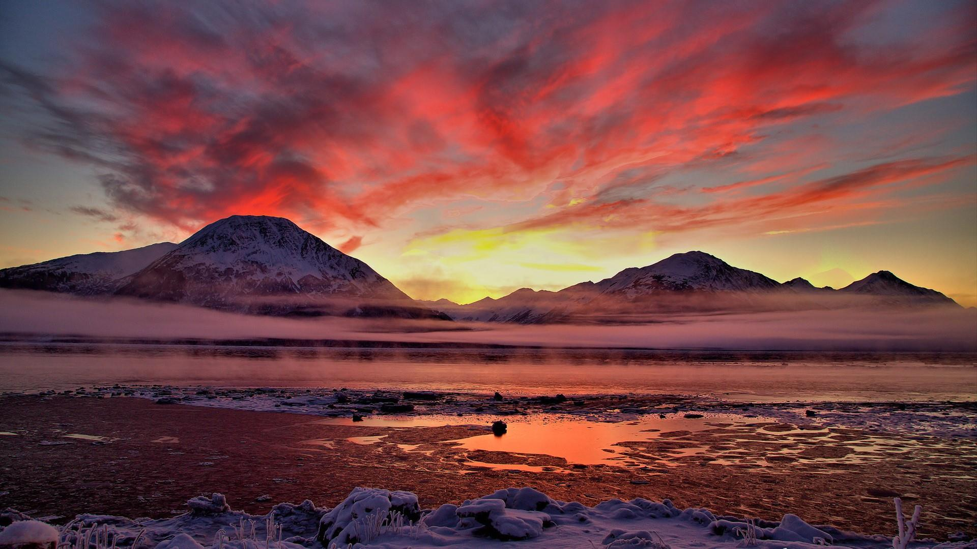 Sunset in Alaska wallpaper