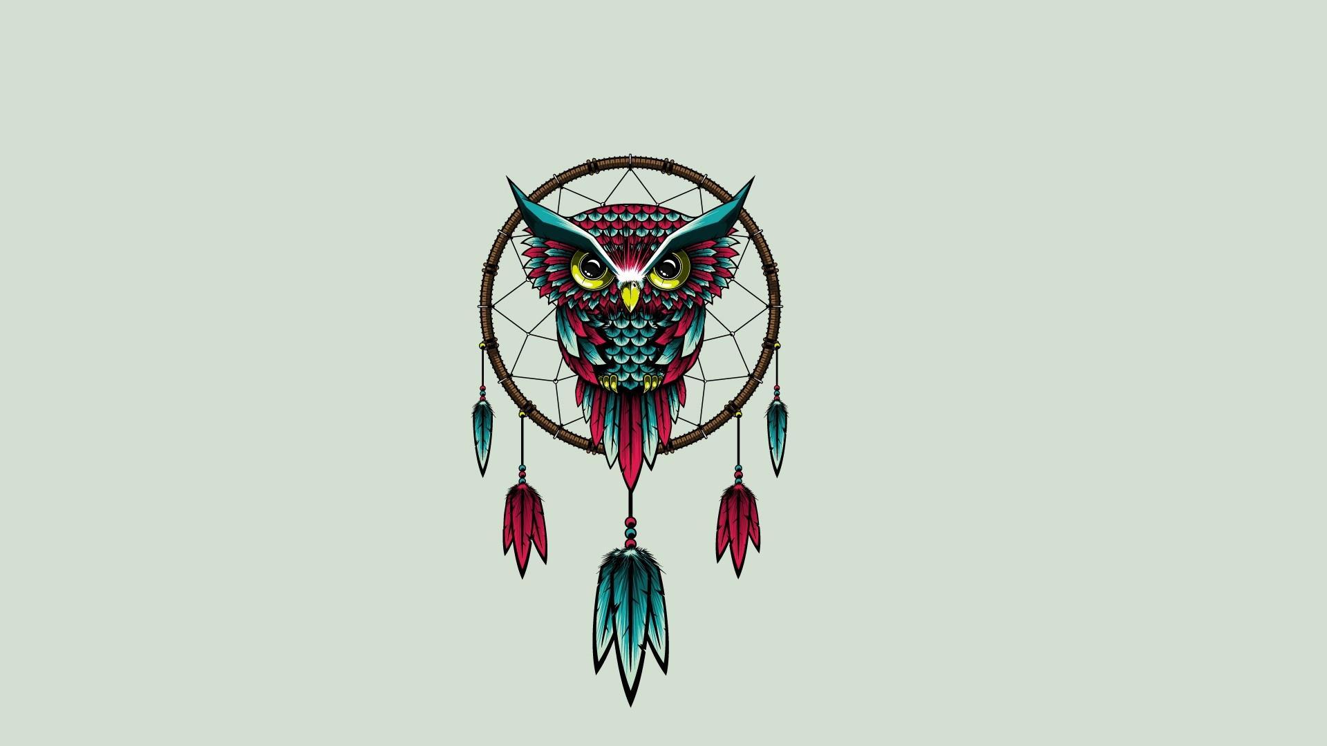 Owl dream catcher wallpaper