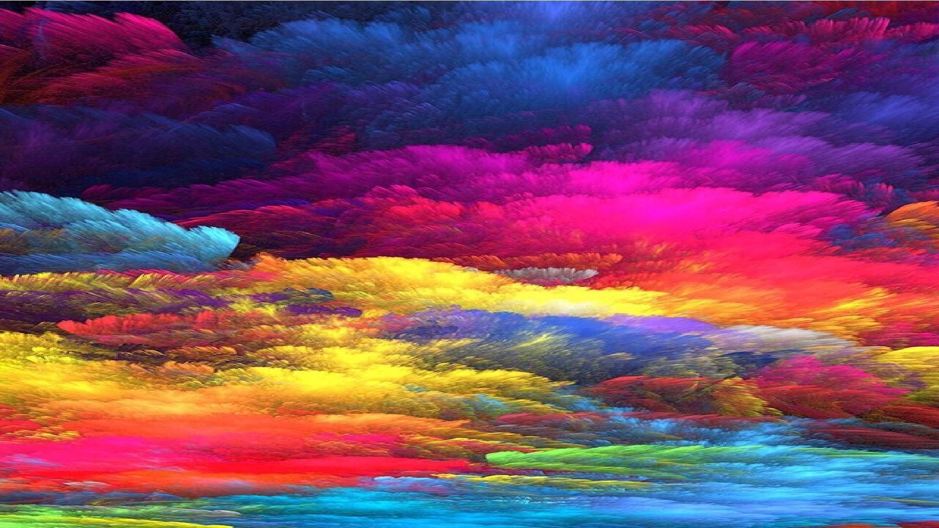 Rainbow colors artwork wallpaper