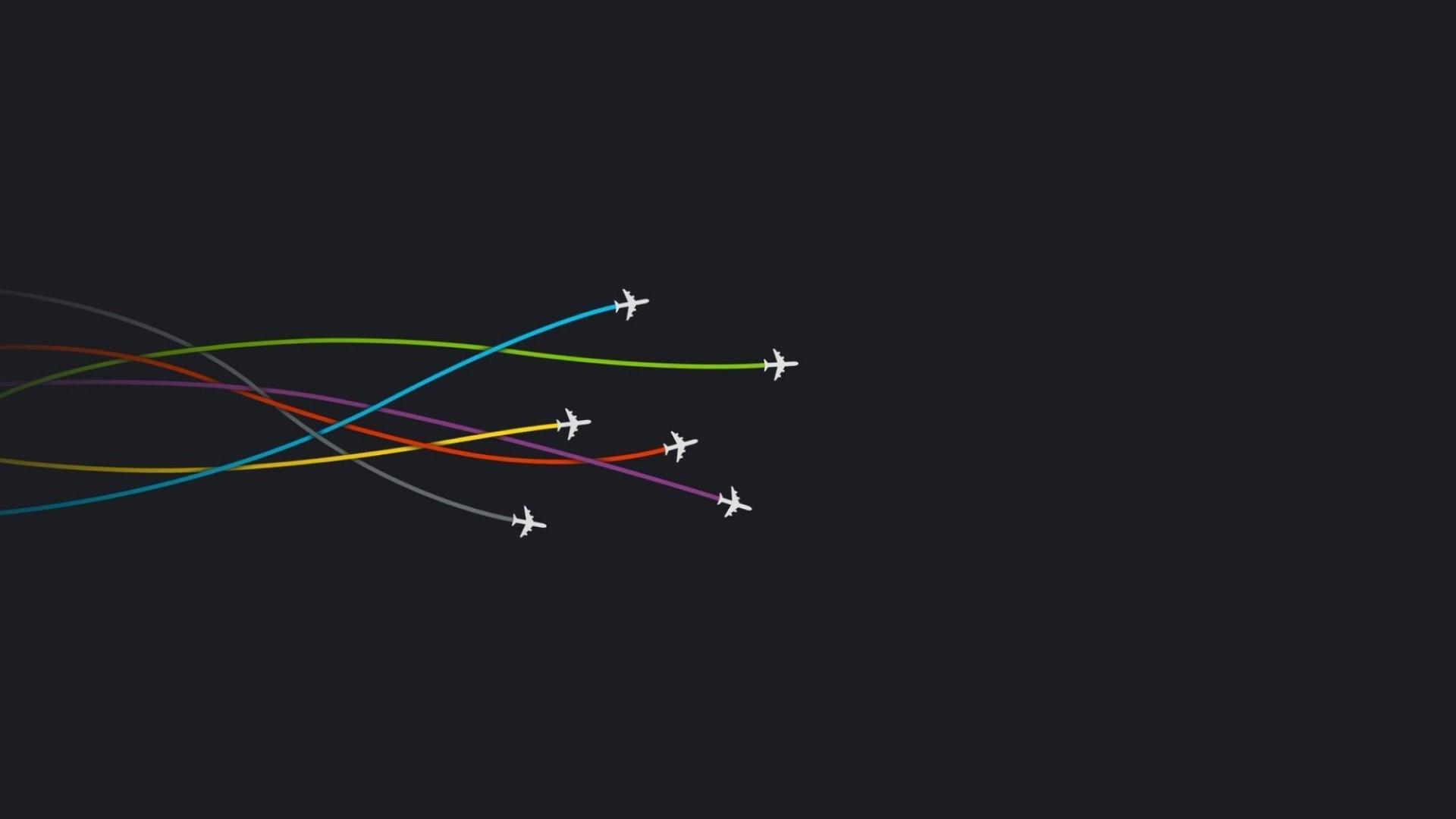 Planes With colors Smoke wallpaper