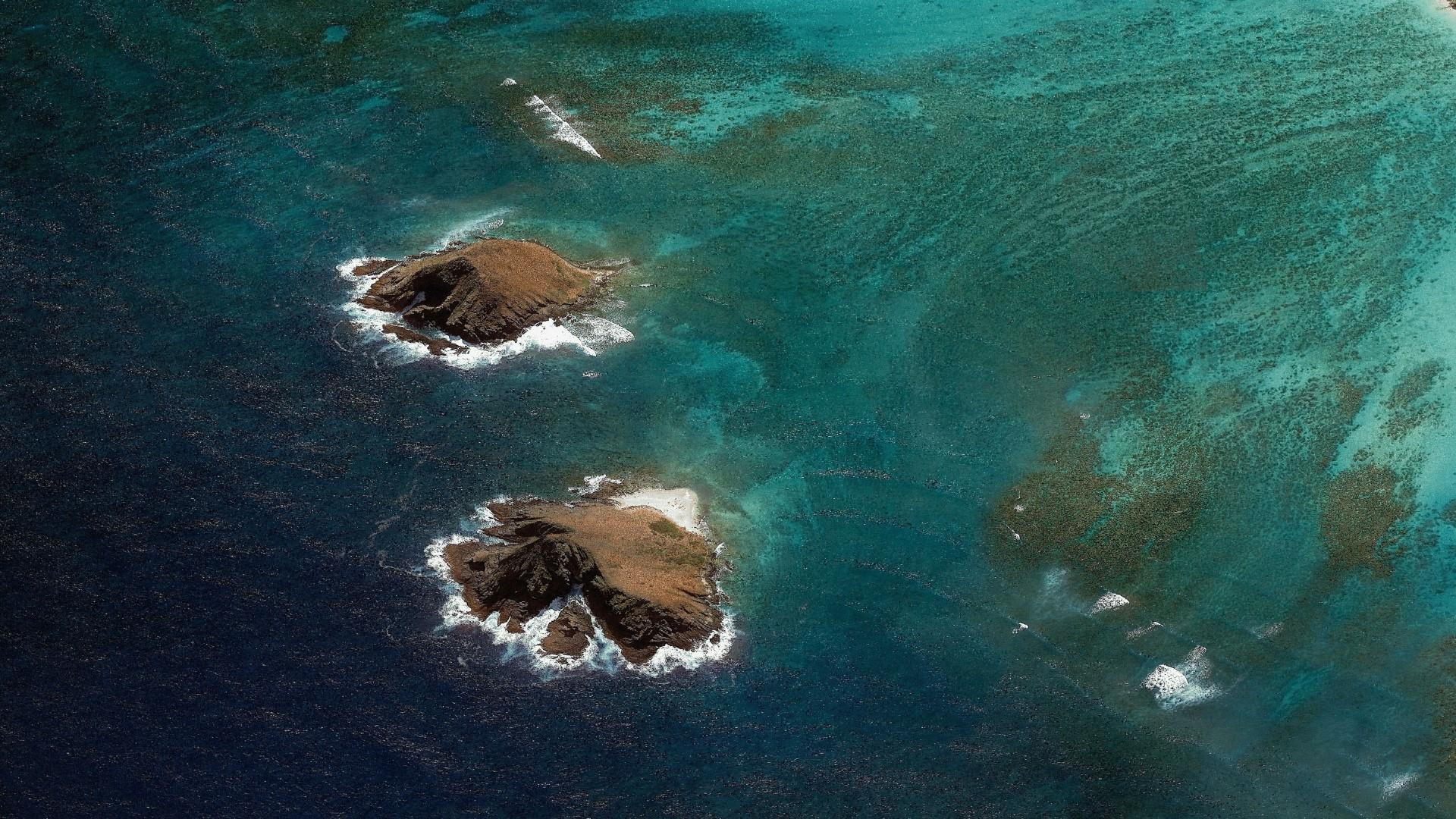 Above the sea- Aerial photography wallpaper