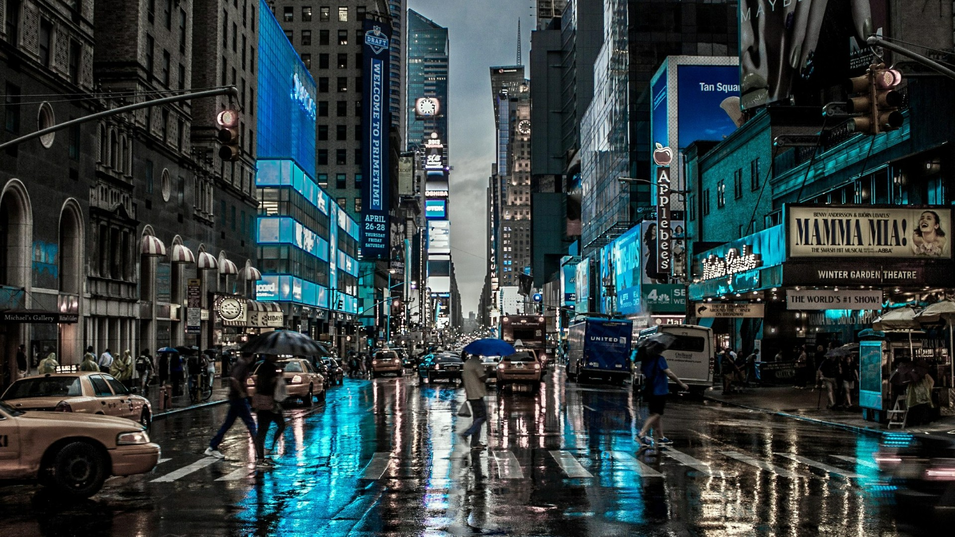 Rainy day in New York City wallpaper - backiee