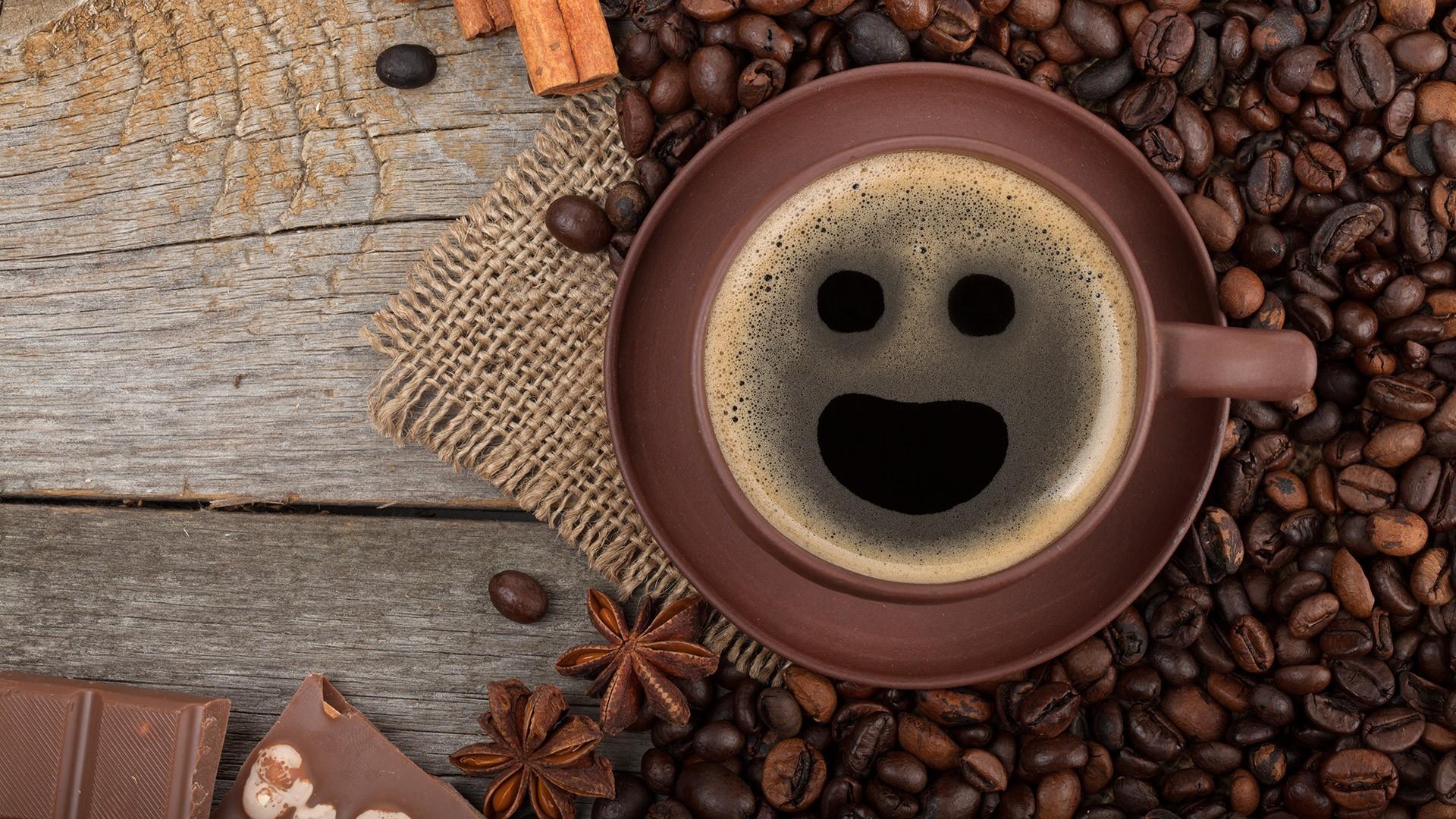 Smiling Coffee wallpaper