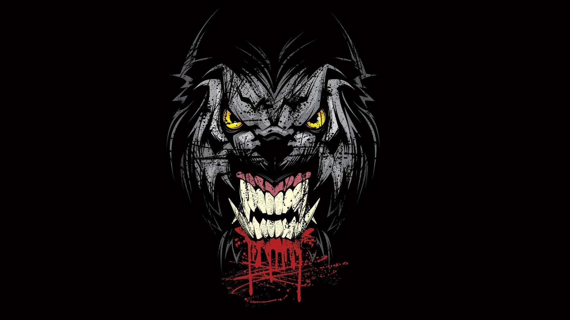 Creepy werewolf wallpaper