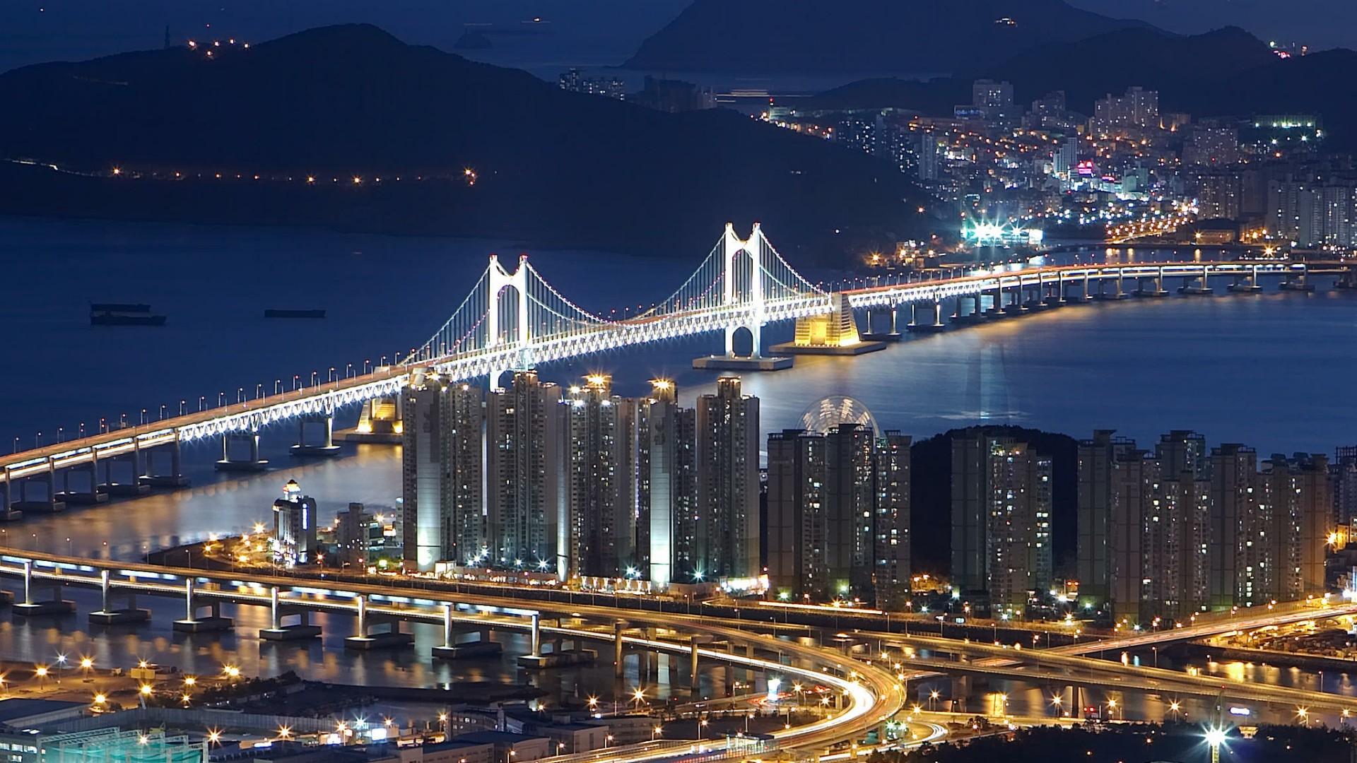 Seoul at night wallpaper