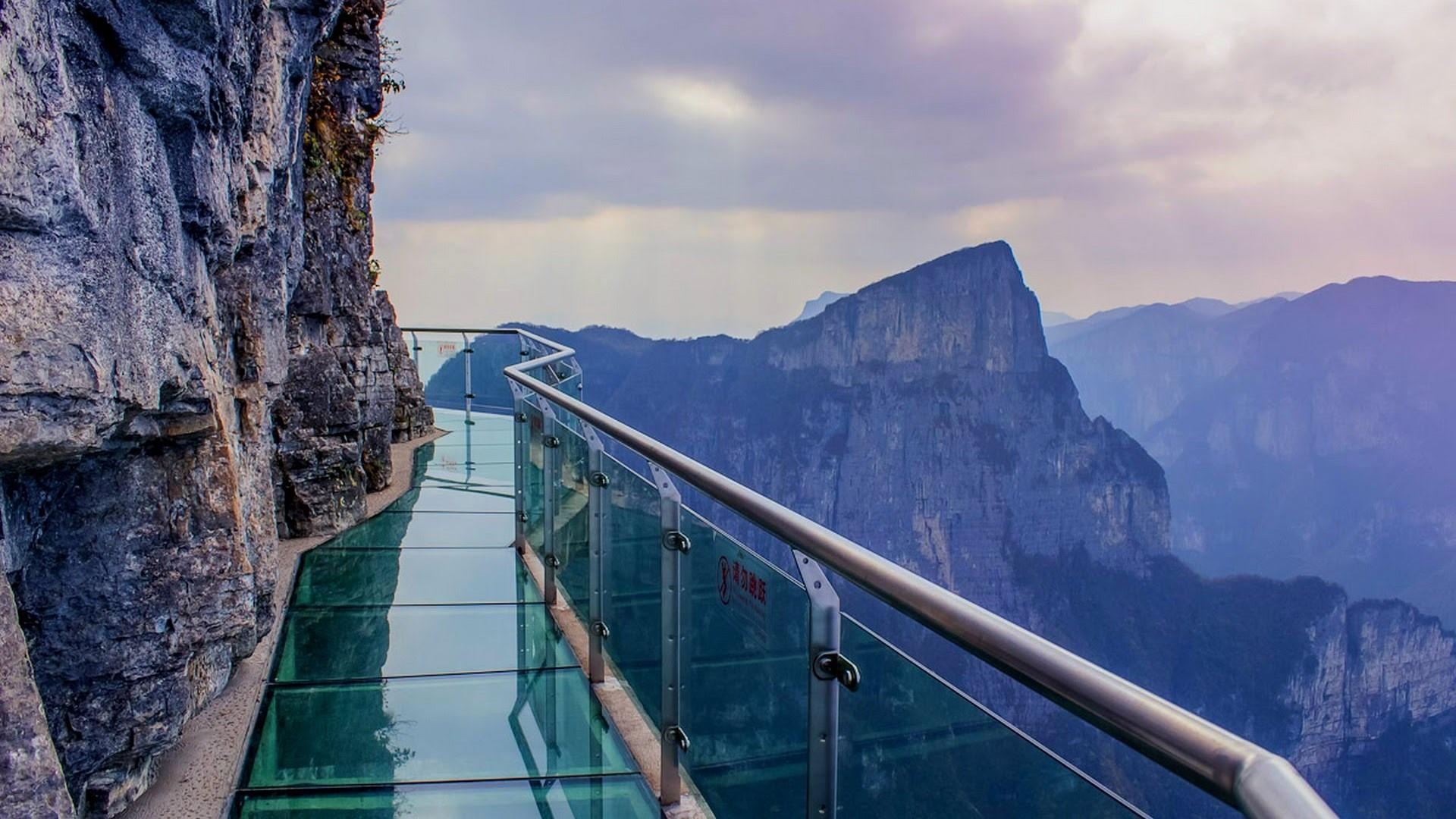 Coiling Dragon Cliff Skywalk Tianmen Mountain National