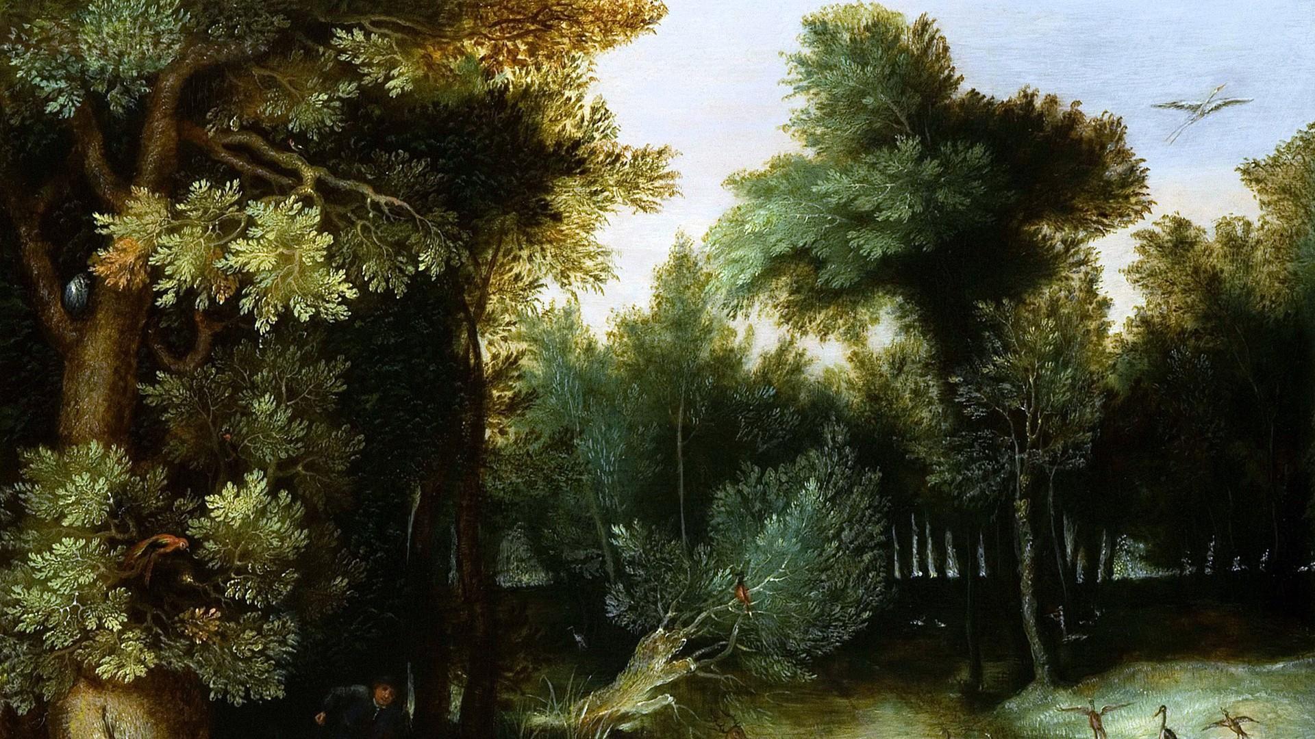 Gillis van Coninxloo - Flemish forest landscape wallpaper