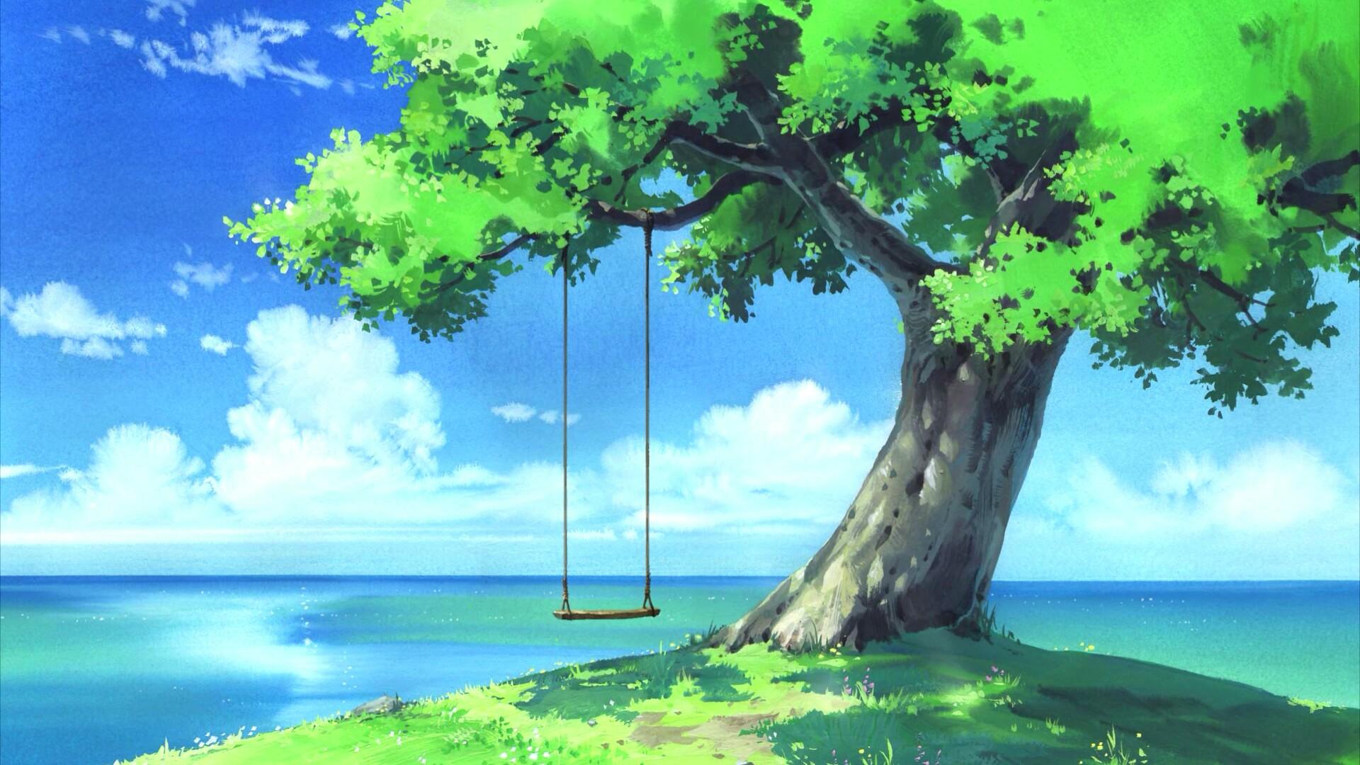 Anime landscape HD wallpaper - backiee