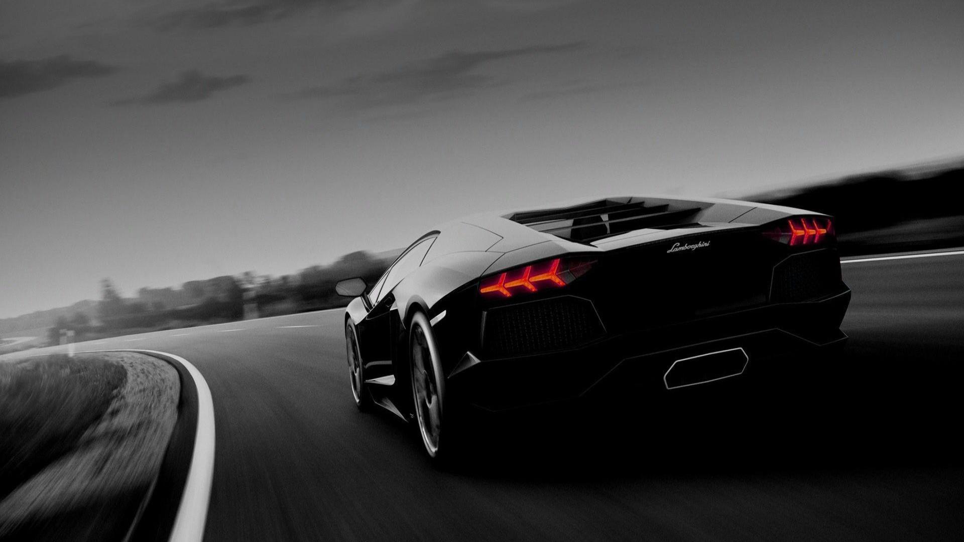 Black Lamborghini Aventador wallpaper