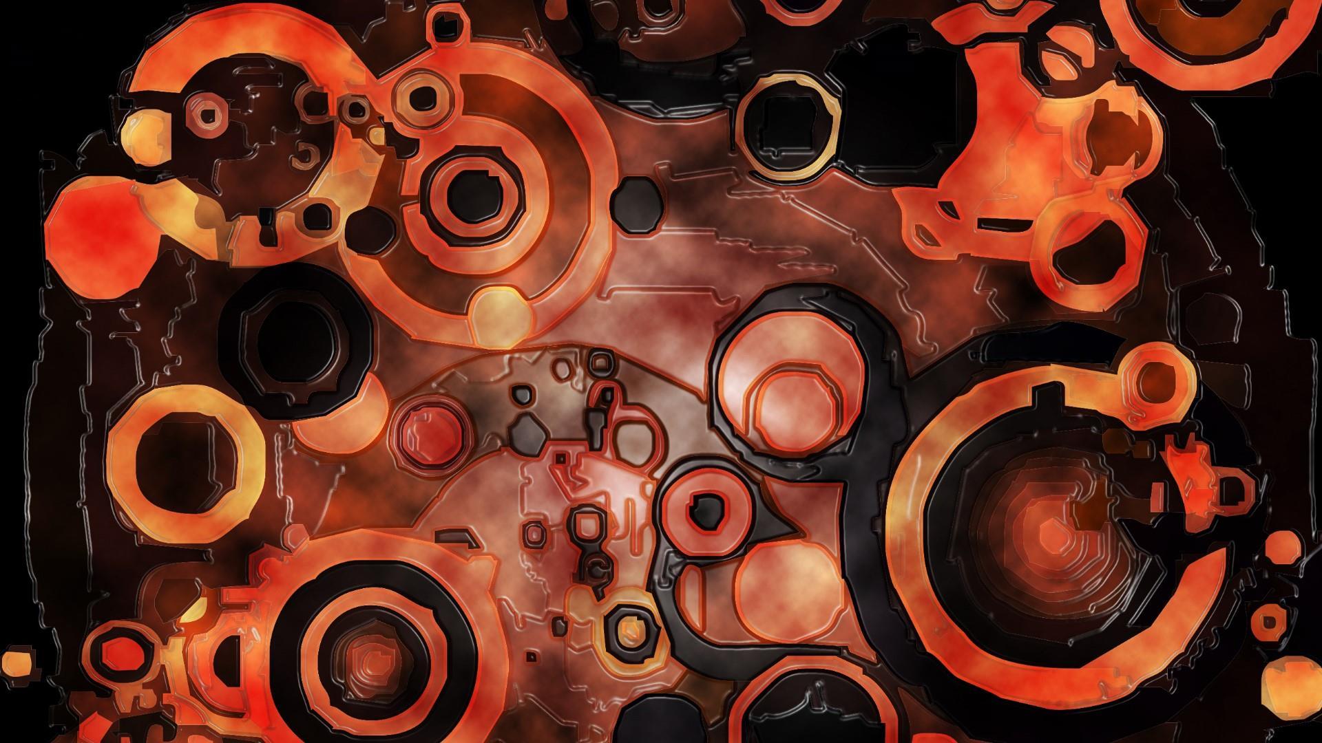 Orange & Black Spots wallpaper