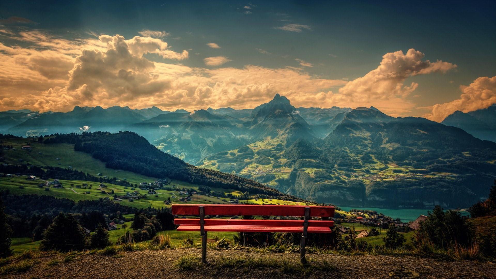 Mountain top scenery wallpaper