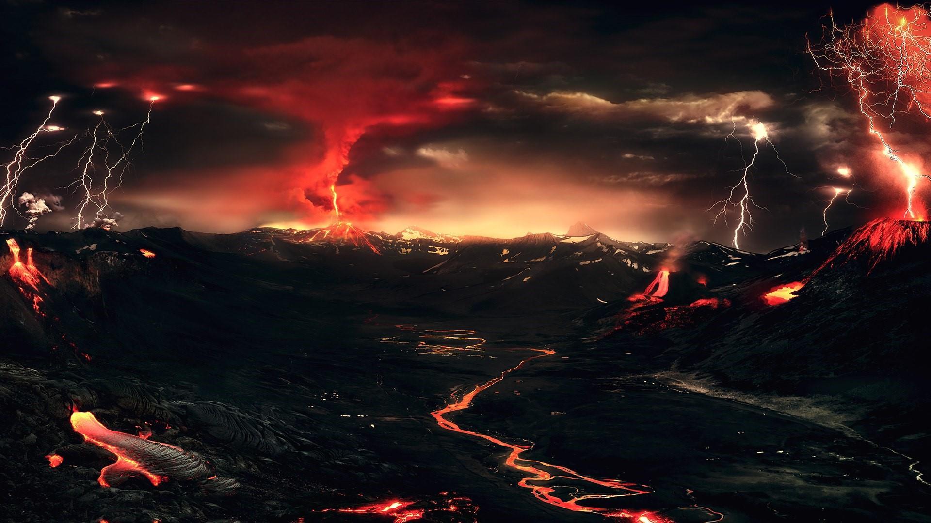 Volcanic Landscape wallpaper