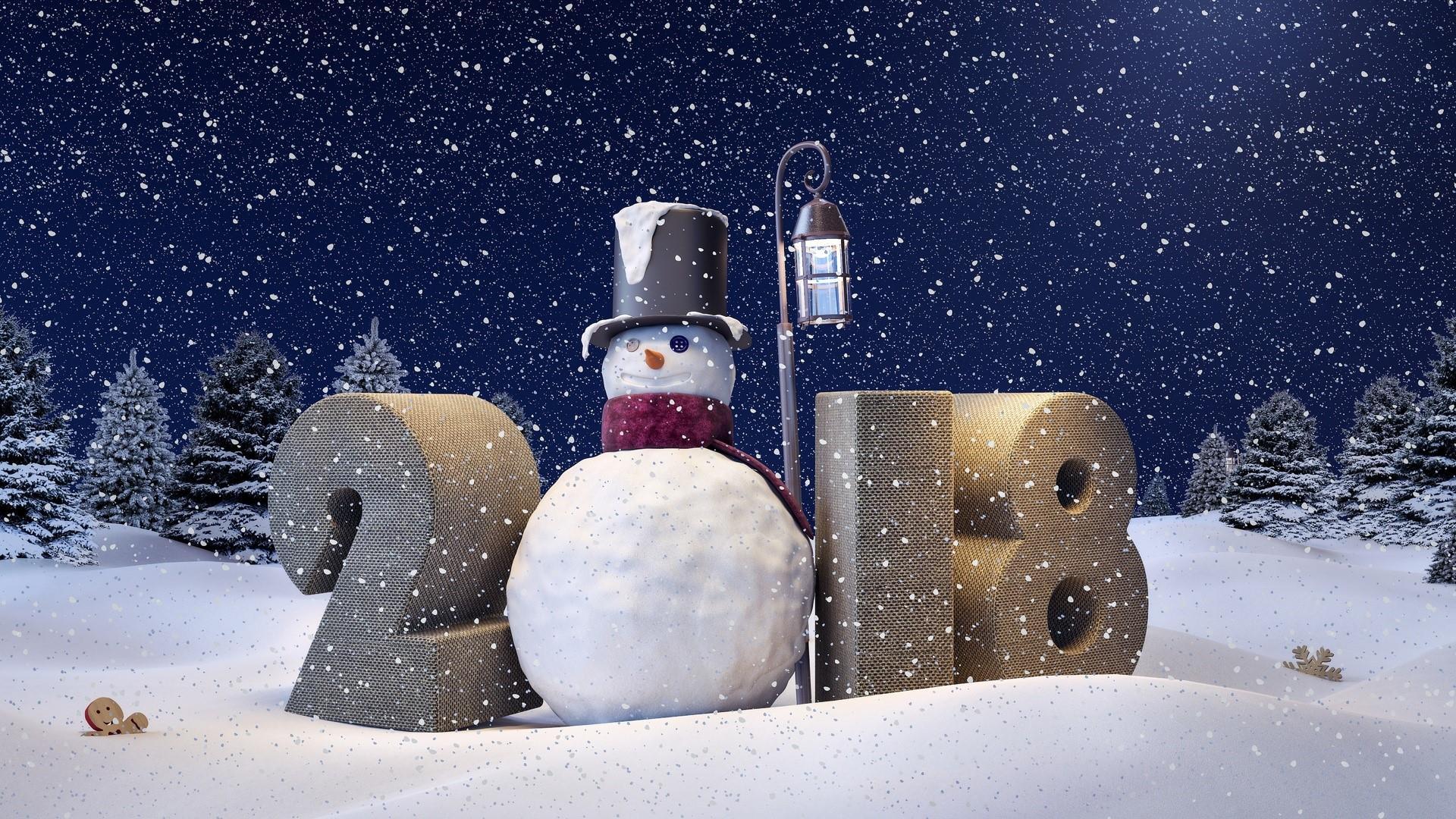 2018 New Year Snowman ⛄ wallpaper