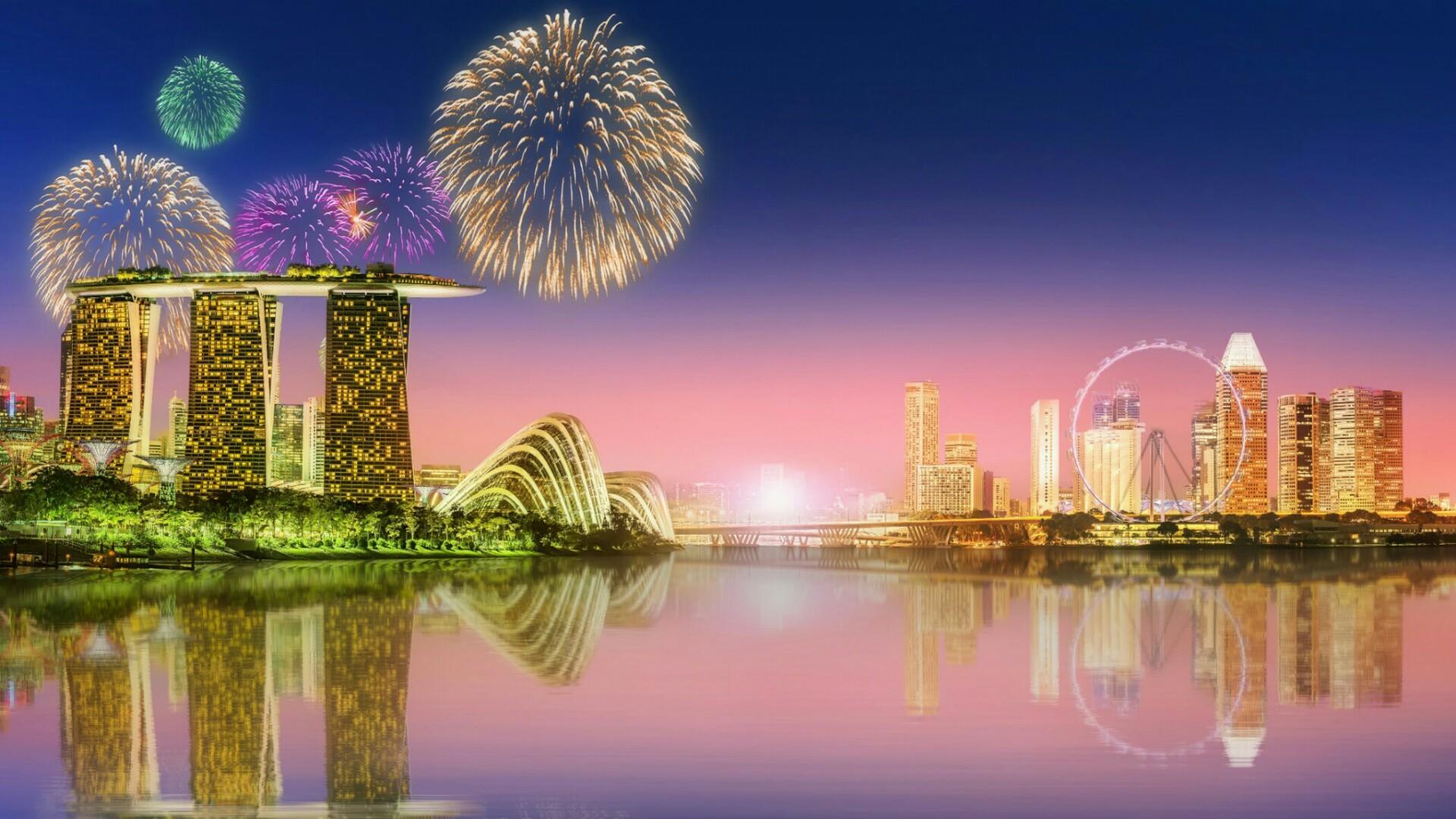 Fireworks in Singapore wallpaper