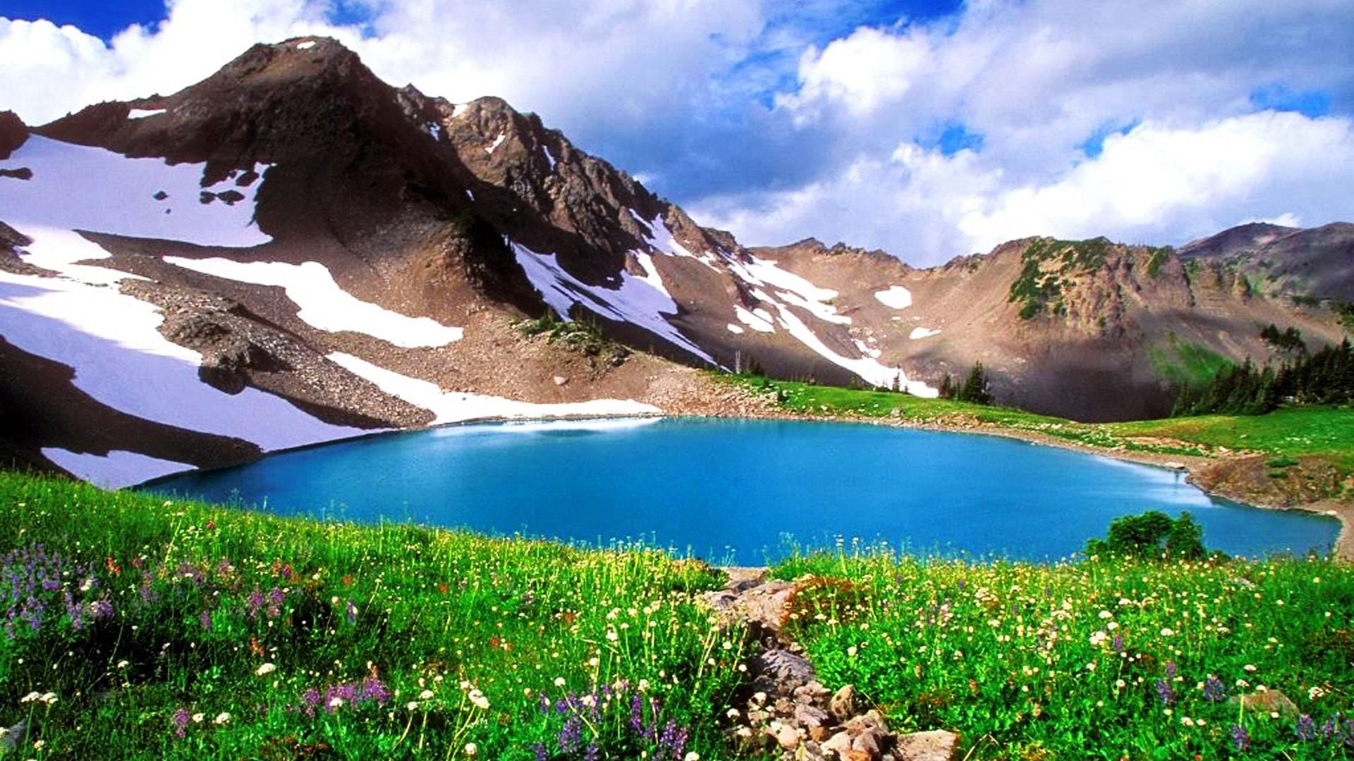 Godar Lake in spring- Swat Valley, Pakistan wallpaper