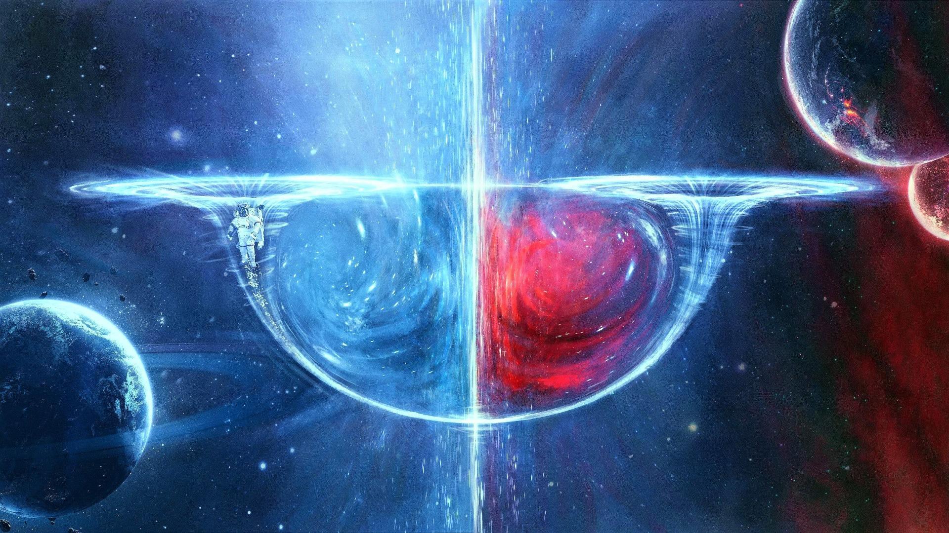 Wormhole simulation wallpaper