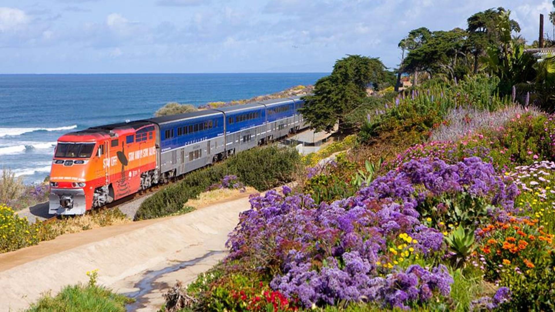 Amtak railroad California wallpaper