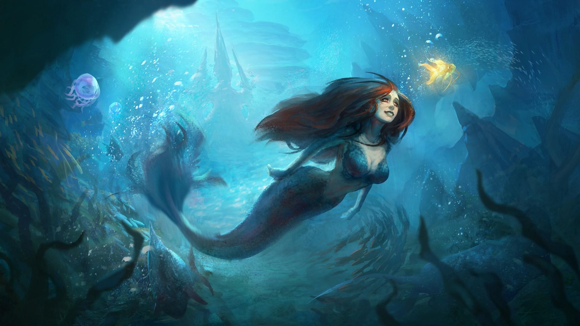 Mermaid - Underwater fantasy world wallpaper