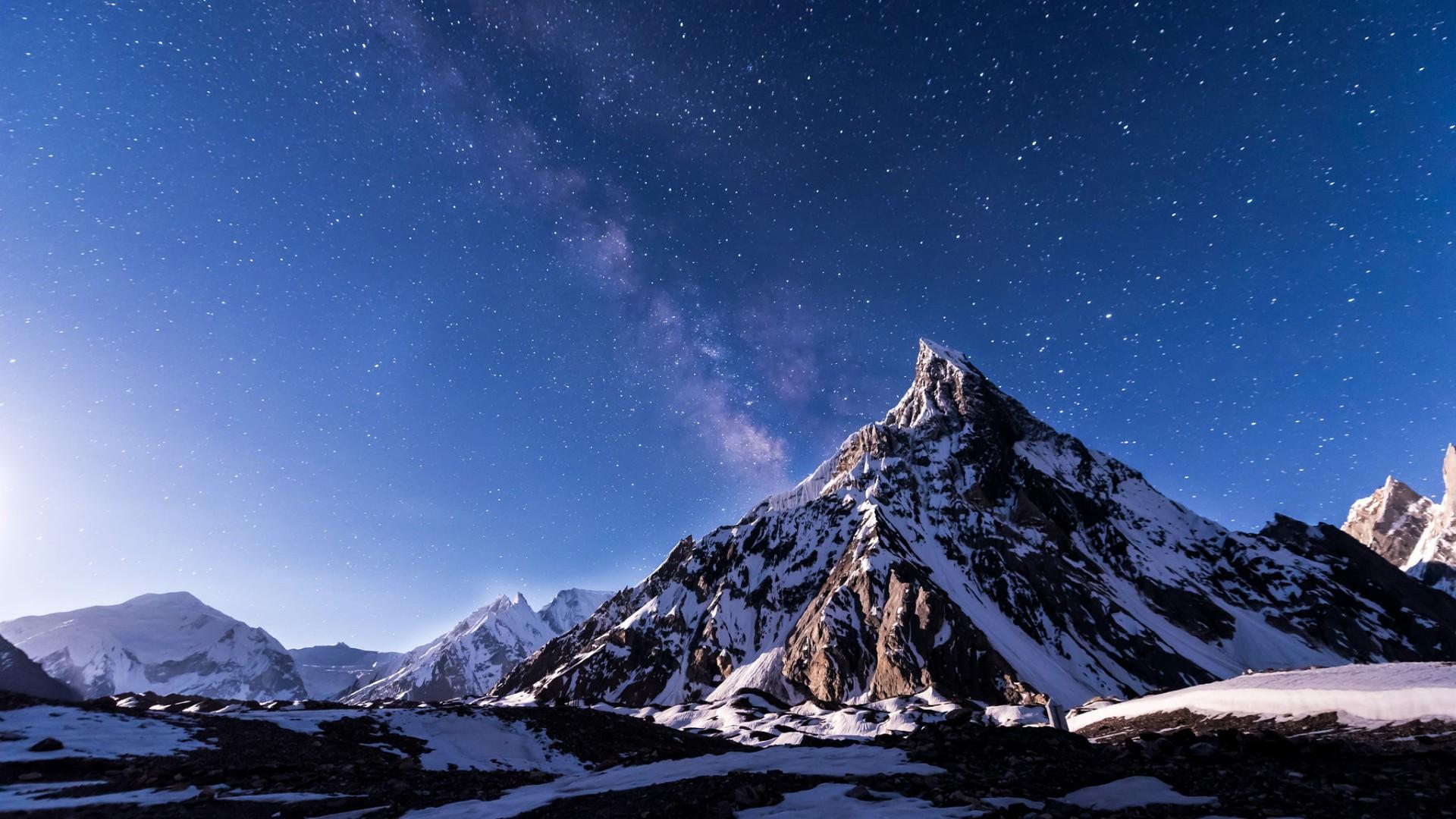 Mitre peak in Karakorum Mountains wallpaper