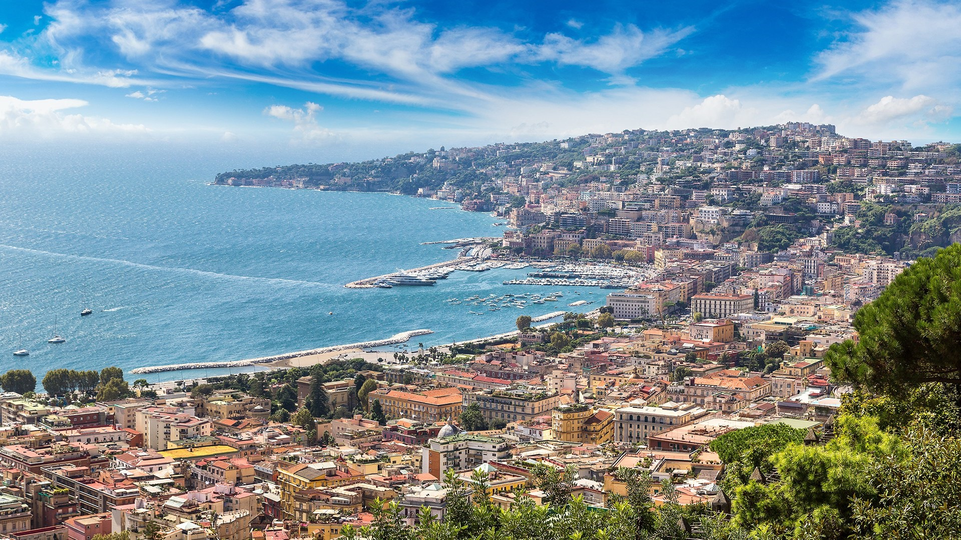 Gulf of Naples, Italy wallpaper