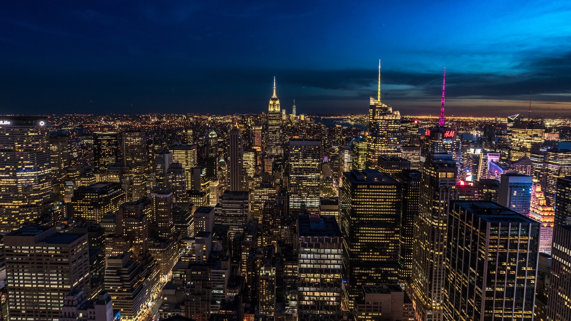 New York City skyline with the Empire State Building wallpaper
