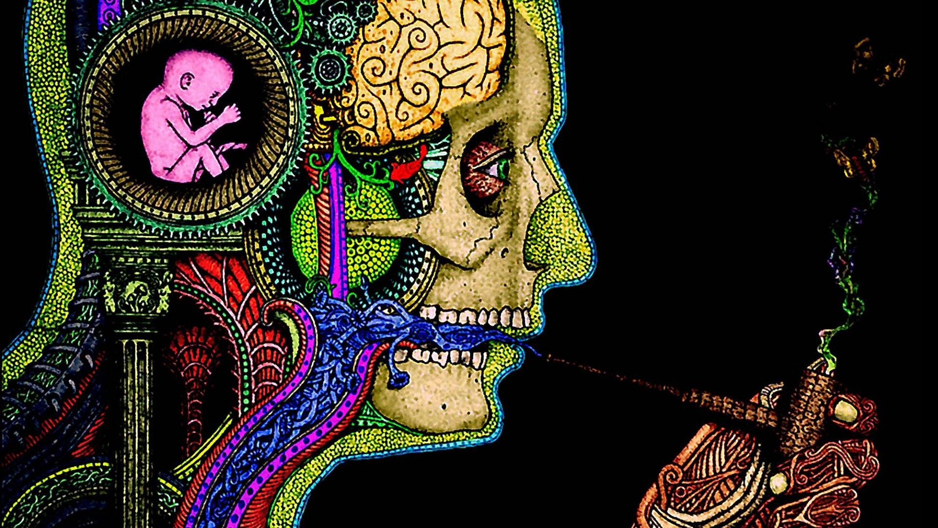 Psychodelic wallpaper